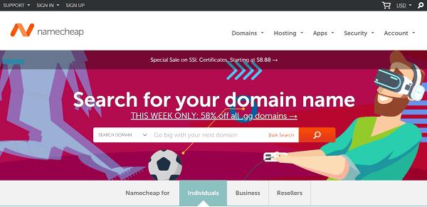 Namecheap.com официальный сайт